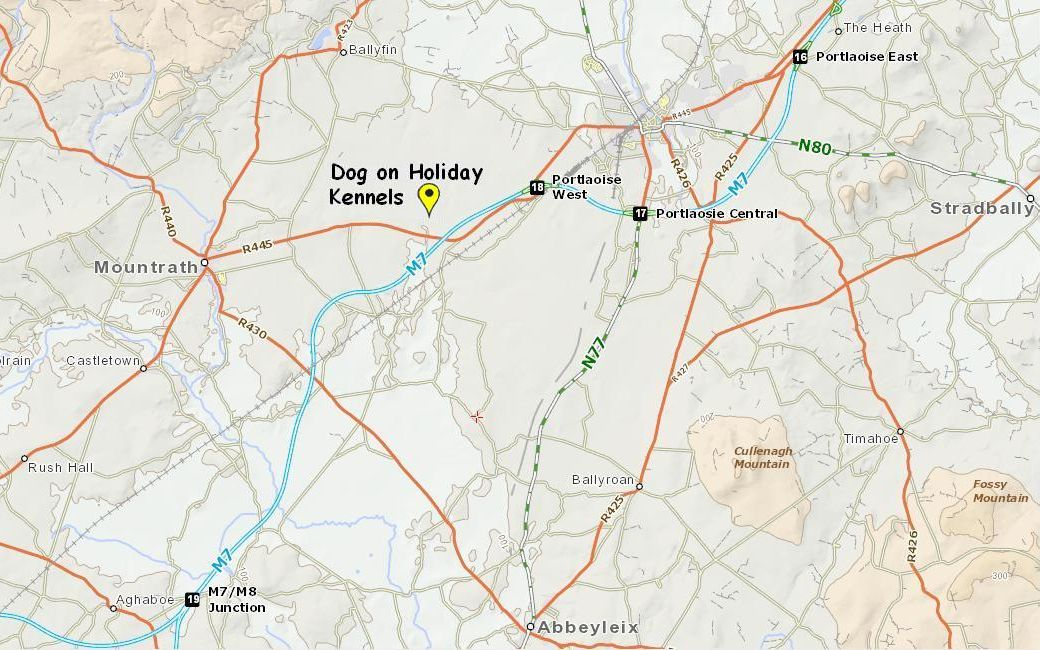 Map to Dog on Holiday Kennels
